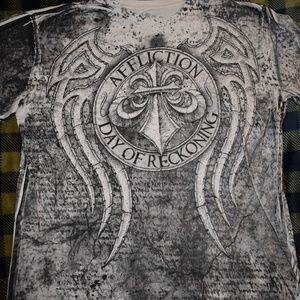 Mens Affliction Day of Reckoning Tee Sz XL